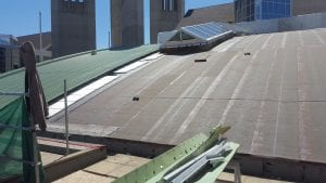 Grant MacEwan University Barrel Metal Roof