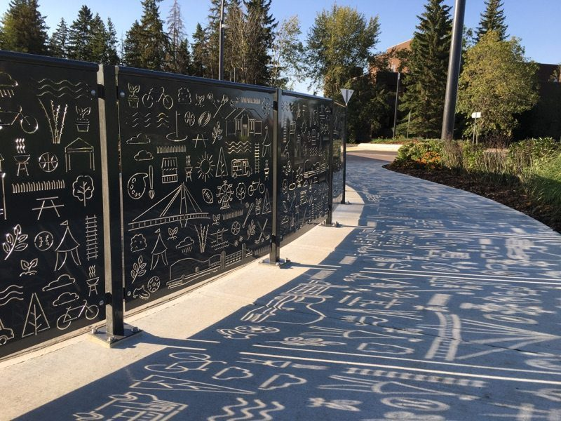 laser cut metal decorative handrail