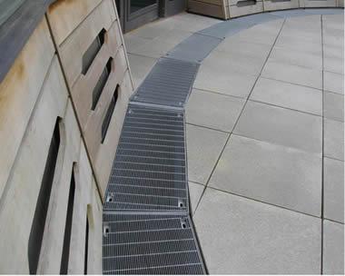 in floor metal grating