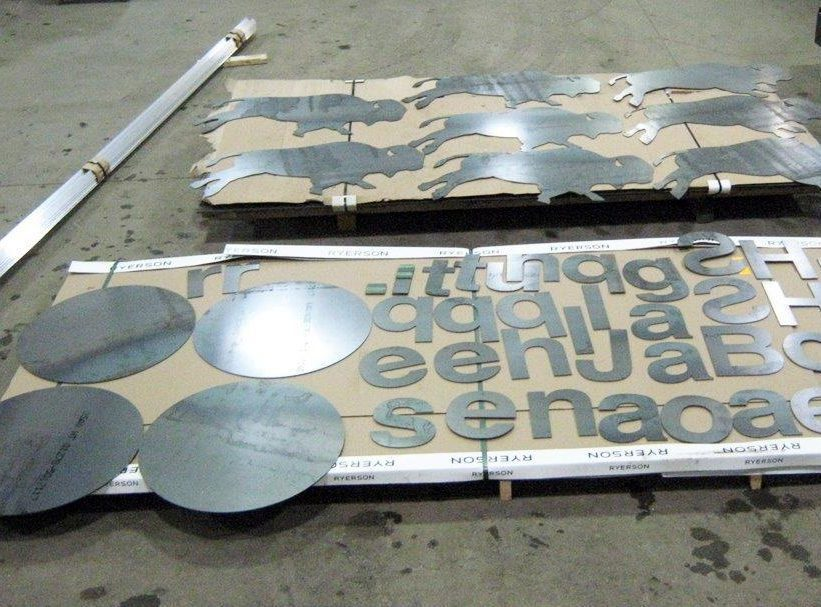 laser cut metal letters and sign blanks