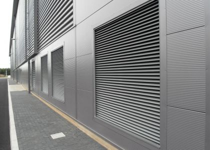 Metal Louver with Insulated Metal Panel