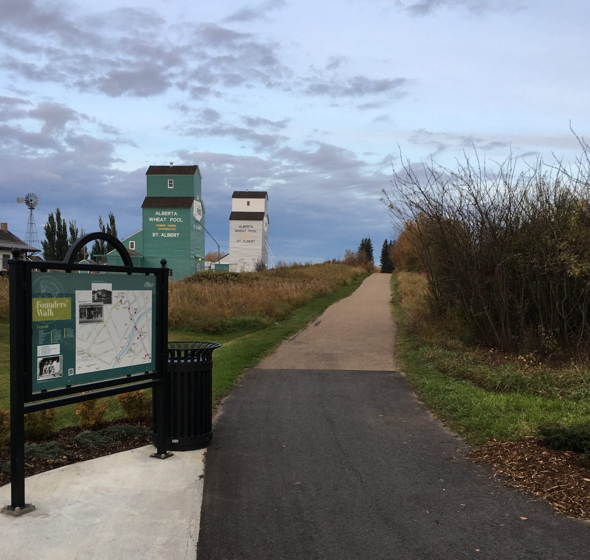 upright trail and map sign stands