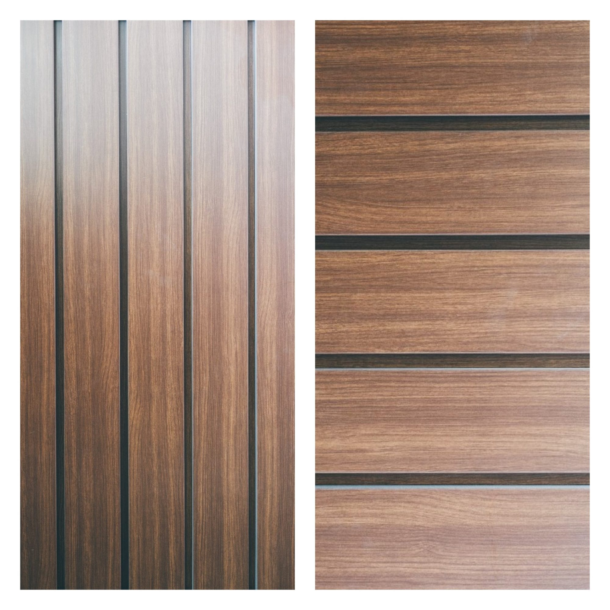 Prefinished woodgrain metal panels alura imark for Horizontal wood siding panels