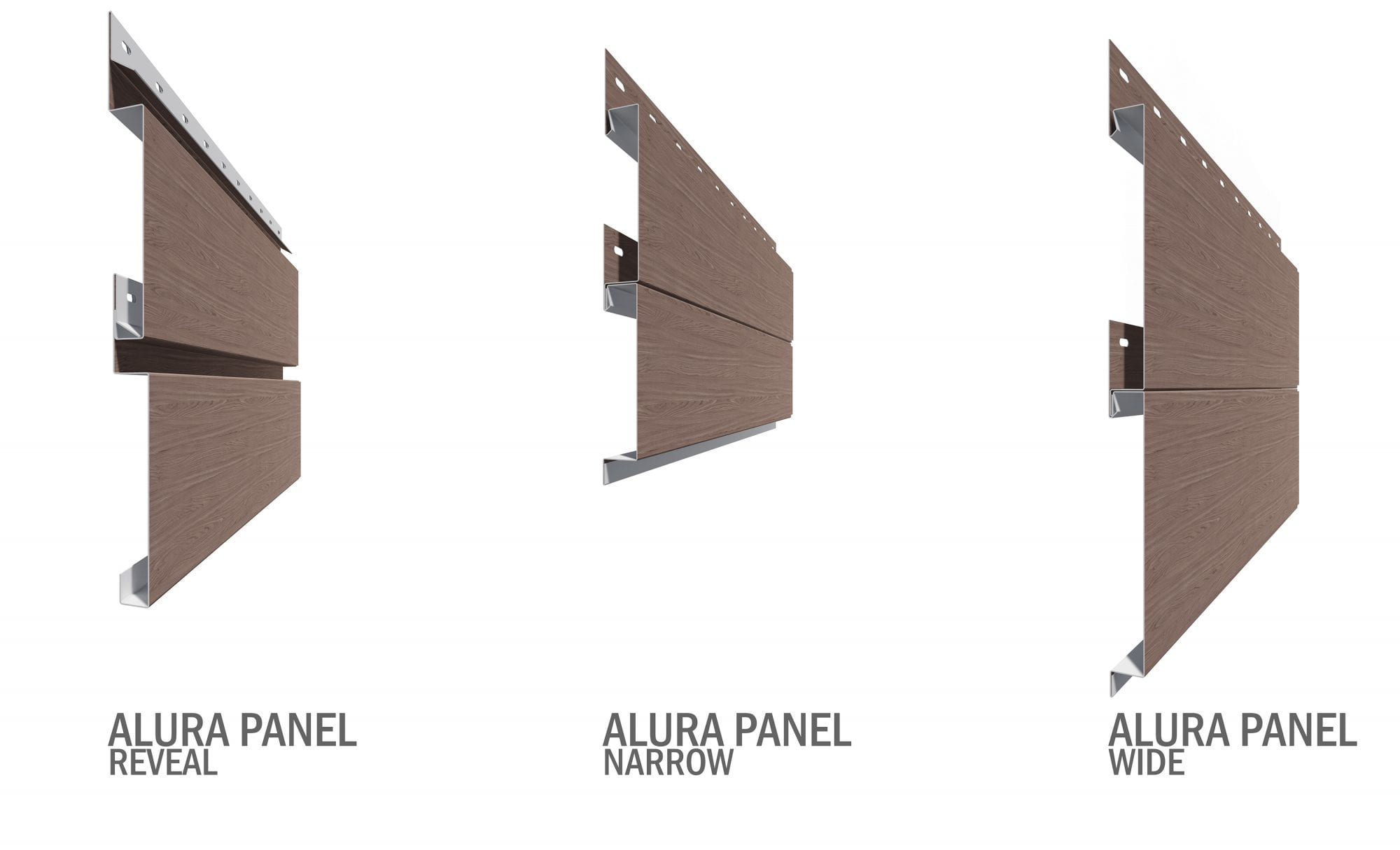 Siding profile for woodgrain metal panel commercial or residential
