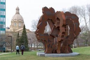 Large Corten Steel Sculpture