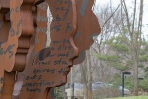 Public Art Corten Steel Statue