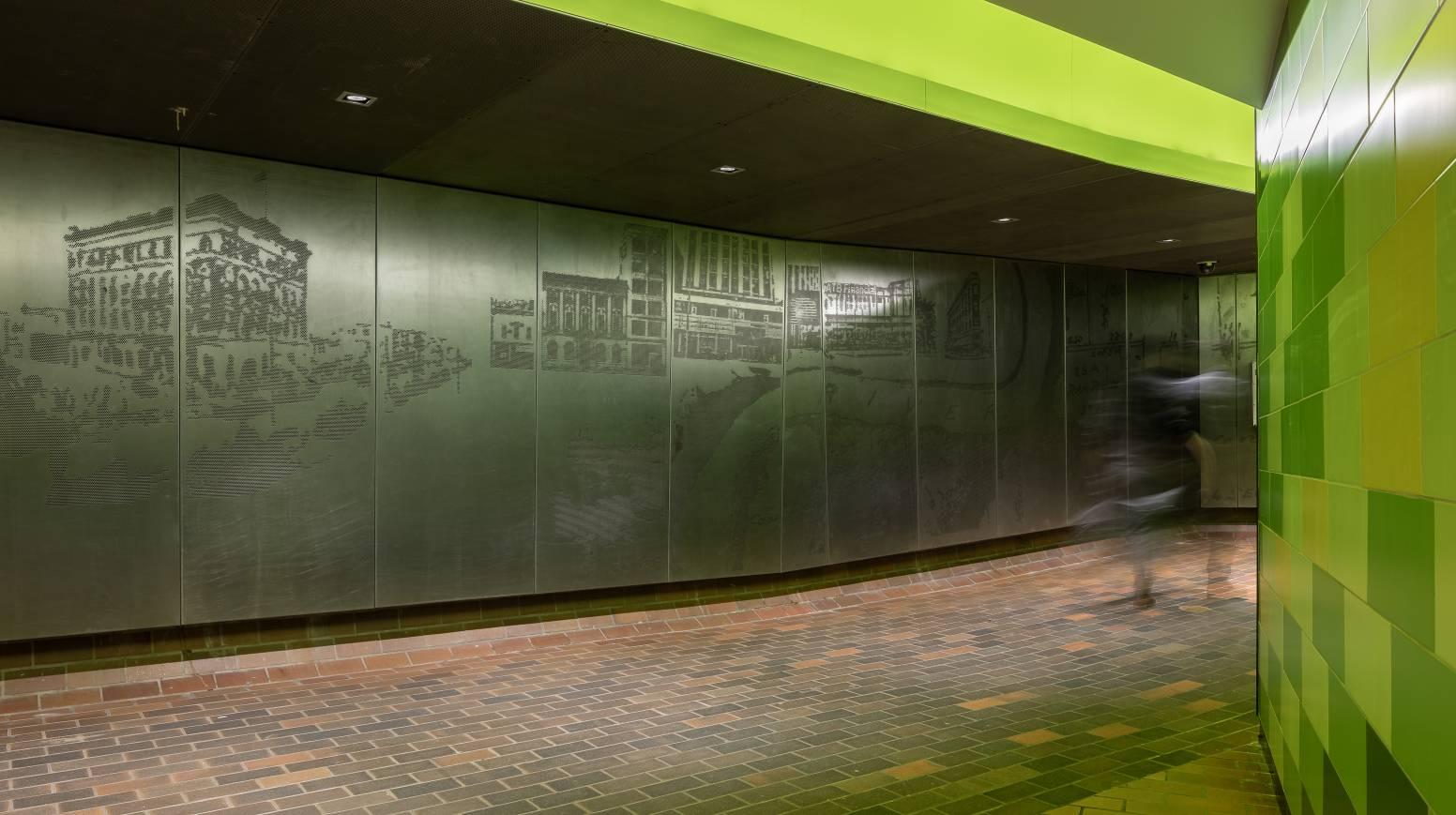 Custom Perforated Metal Panel Imaging Collage